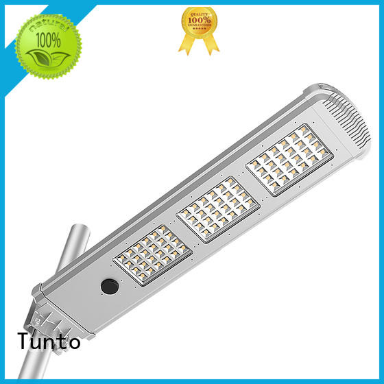 Tunto solar street lighting system wholesale for outdoor