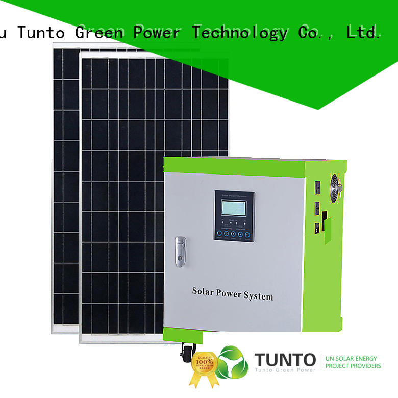 Tunto off grid solar power systems customized for road