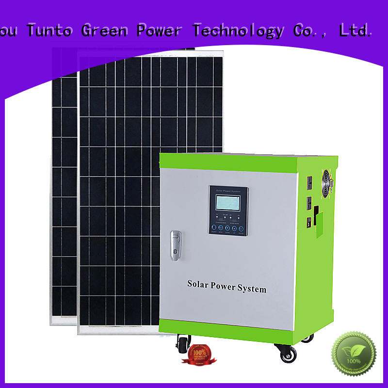 Tunto 8000w off grid solar power systems manufacturer for plaza