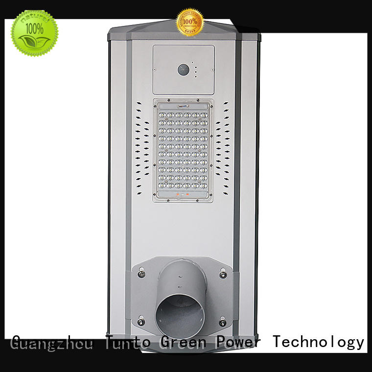 battery integrated led solar street light factory price for outdoor Tunto