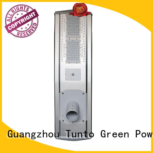 Tunto powered solar powered led street lights supplier for road