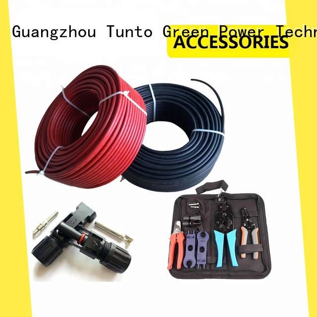 Tunto blue solar panel cable factory for street
