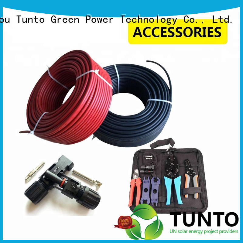 Tunto black 4mm solar cable factory for road