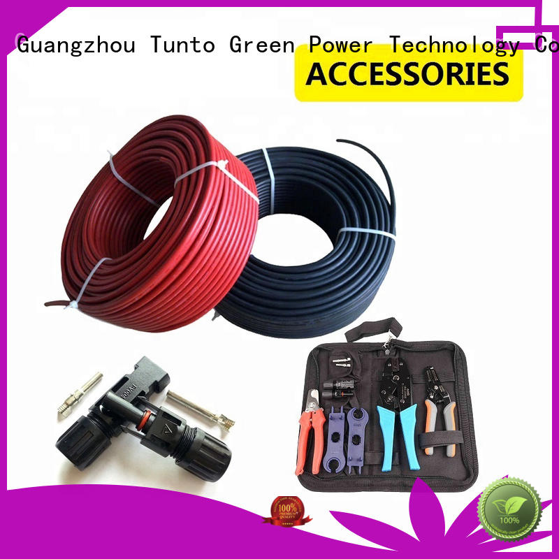 Tunto solar panel cable design for garden