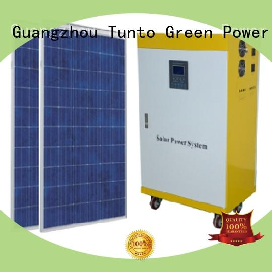 Tunto off grid solar panel kits manufacturer for road