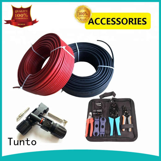 Tunto 4mm solar cable factory for road
