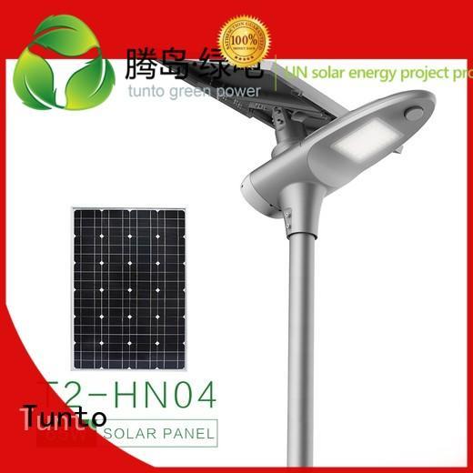 led street light solar system solar Tunto Brand polycrystalline solar panel