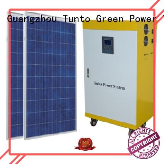 Tunto portable solar power generator manufacturer for plaza