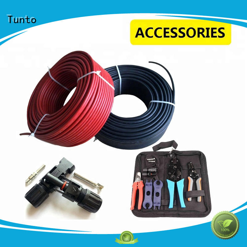 solar panel cables and connectors for garden Tunto