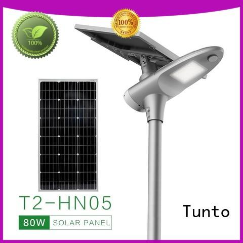 Tunto quality solar street light manufacturer factory price for road