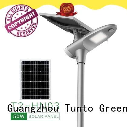 Tunto energy saving solar powered led street lights supplier for road