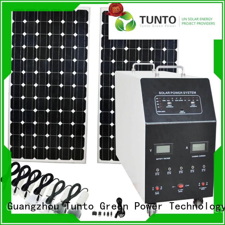 Tunto best solar generator manufacturer for plaza