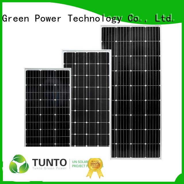 Tunto monocrystalline polycrystalline solar panel supplier for farm