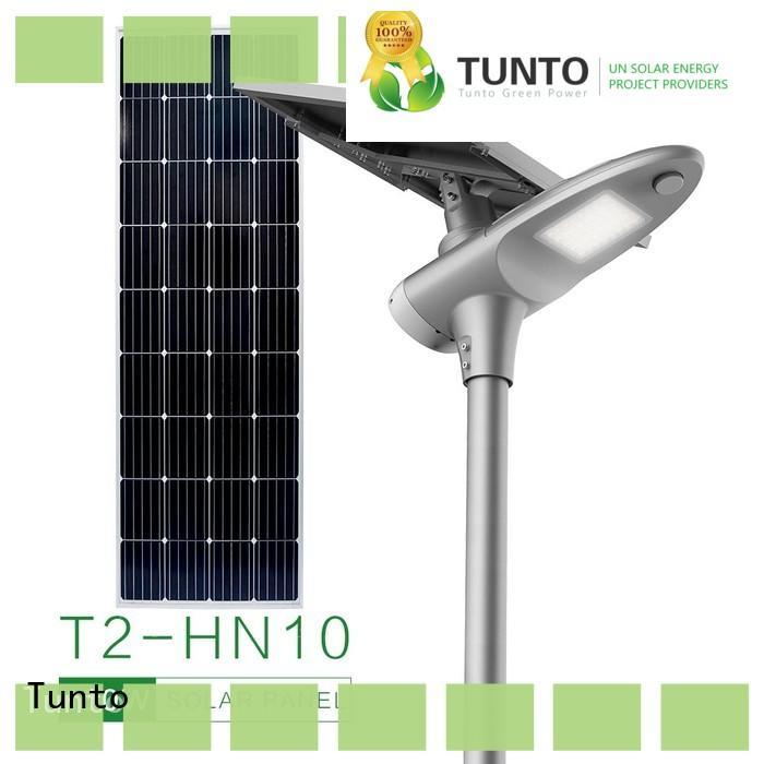 Tunto 30w solar powered street lights wholesale for plaza