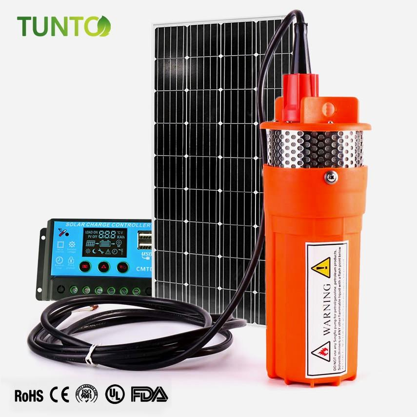 Tunto anti-corrosion solar power water pumping system for pondaeration