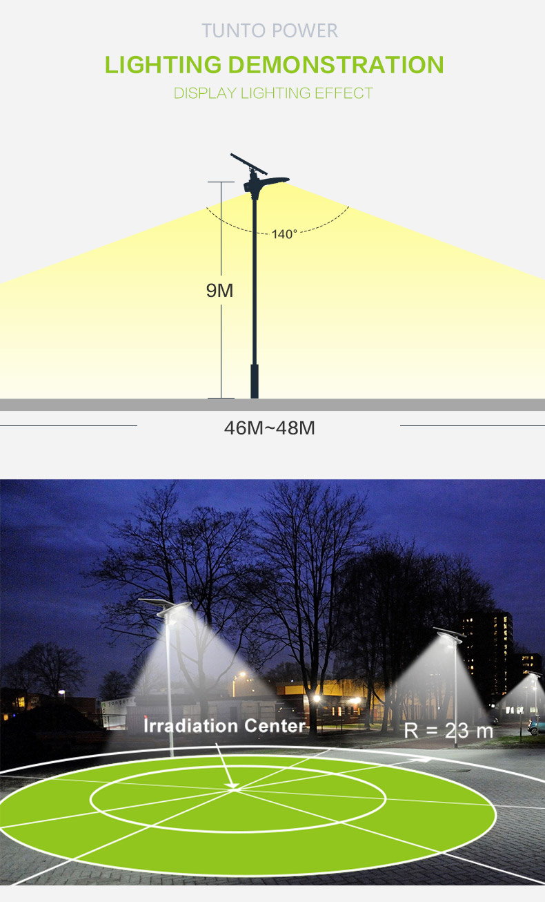 Tunto 4000lm solar powered street lights cost for plaza-5