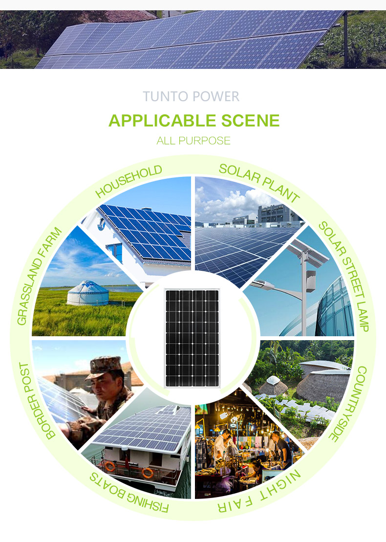 Tunto durable off grid solar panel system supplier for solar plant-7