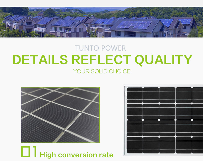 Tunto monocrystalline monocrystalline solar panel wholesale for solar plant-3
