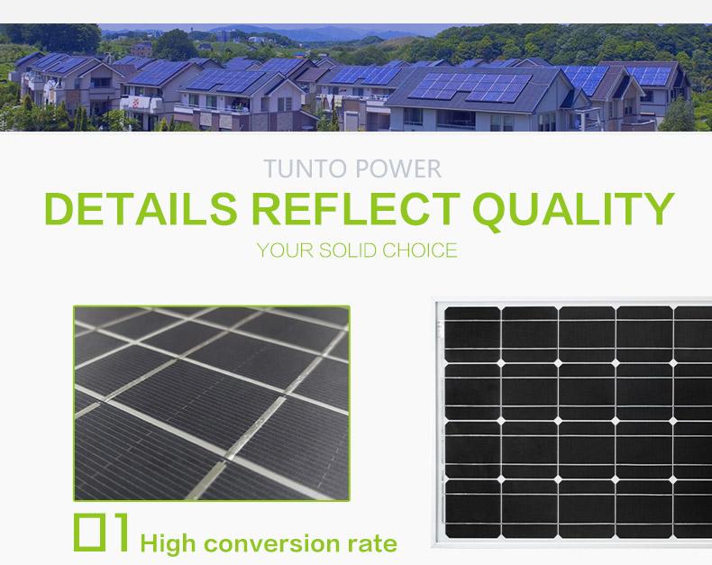 60w monocrystalline solar panel factory price for household-3