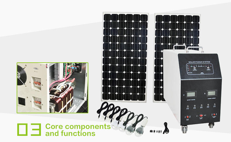 Tunto off grid solar panel kits series for road