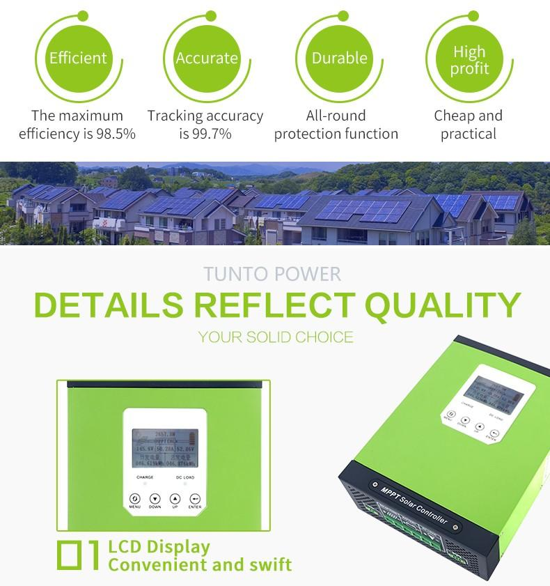 low input voltage portable solar power generator customized for home