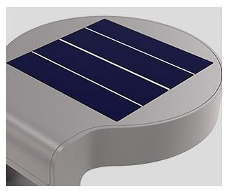 Led solar wall light T2-INX