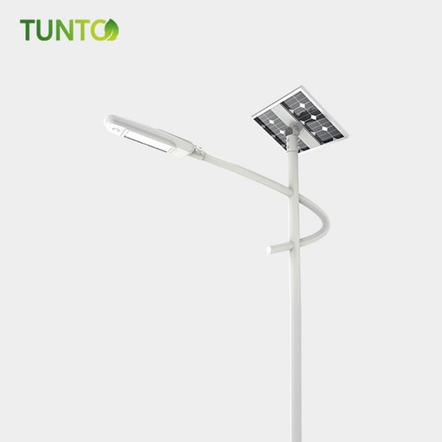 Solar street lamp with built-in battery split-type