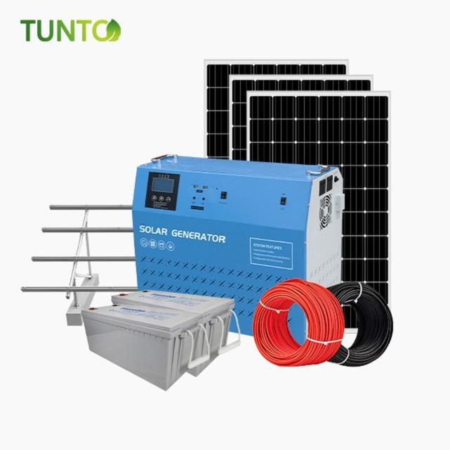 2000W off grid solar power generator system with 200 Ah battery