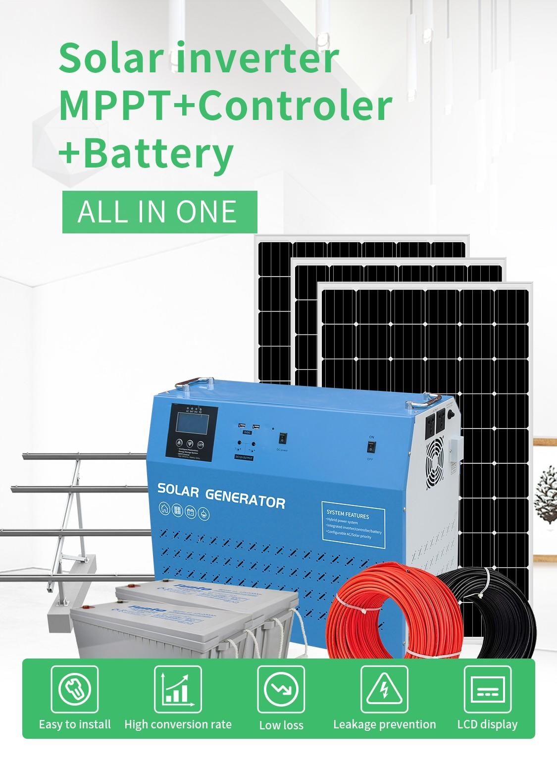 500w solar inverter system manufacturer for street