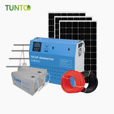solar power system with 150Ahbattery, bracket, inverter and controller