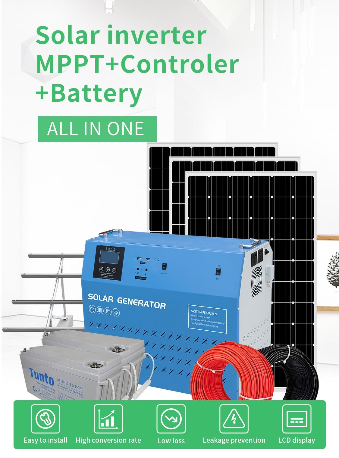 Tunto 6000w off grid solar panel kits from China for plaza-1