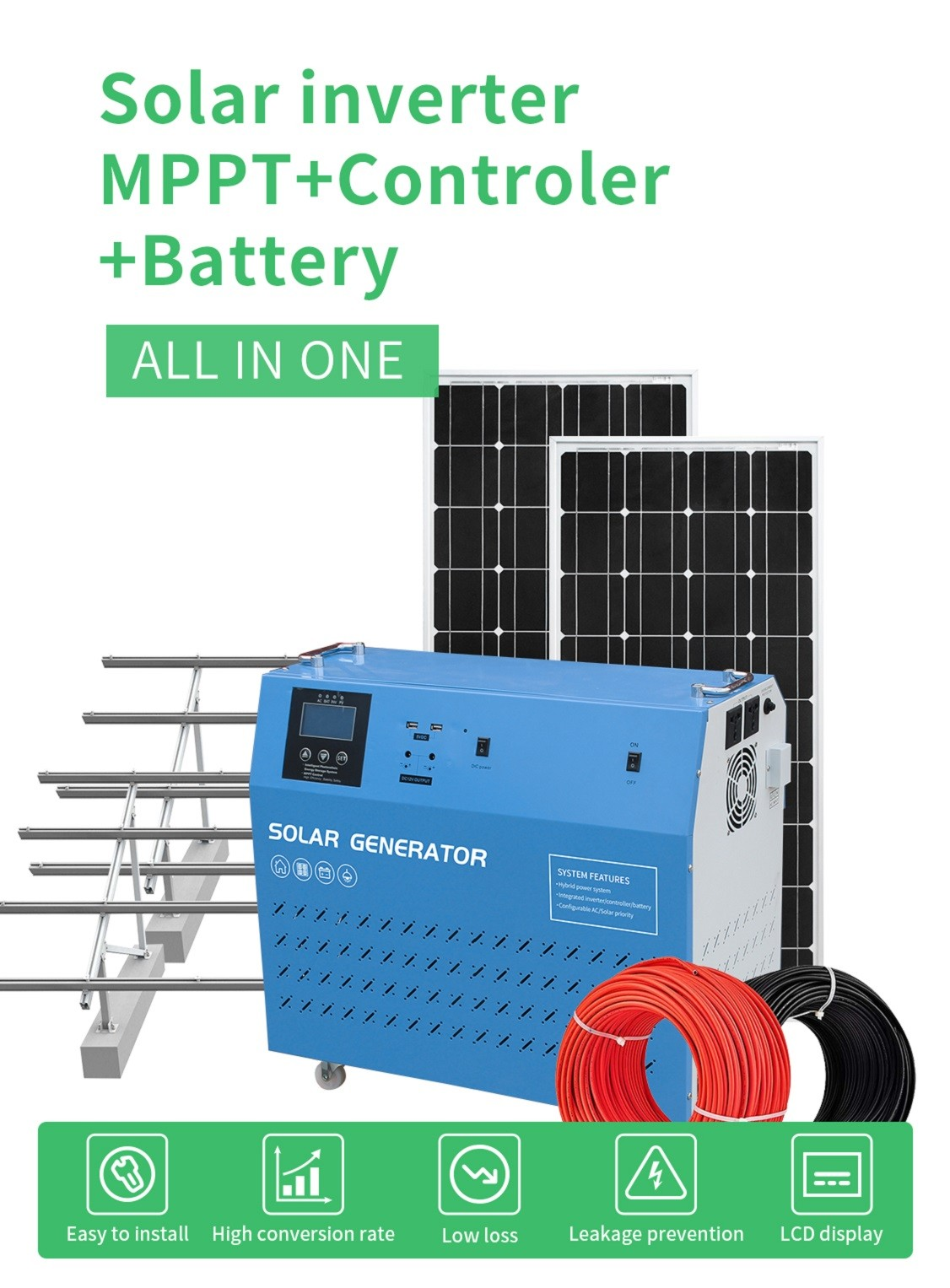 portable portable solar power generator series for road-1