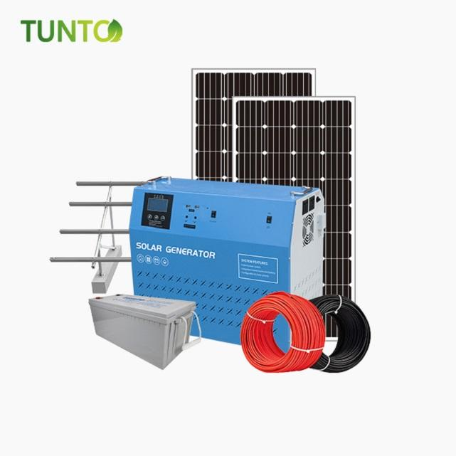 165W solar panel with 200Ah battery off-grid solar power system