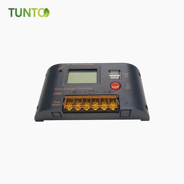 2020 Hot sale 12V 48V 96V mppt solar panel charge controller with 2 dual USB 5V light and 24H timer control for solar