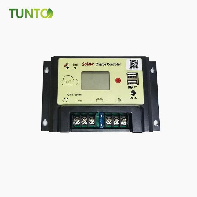 solar charge controller 20A 30A 40A with usb output and IOT technology sim car solt