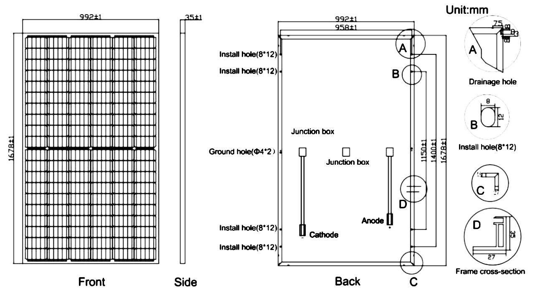 350W 360W 370W 380W 385W 390 watt Mono poly Solar Panel Price per watt for power generation