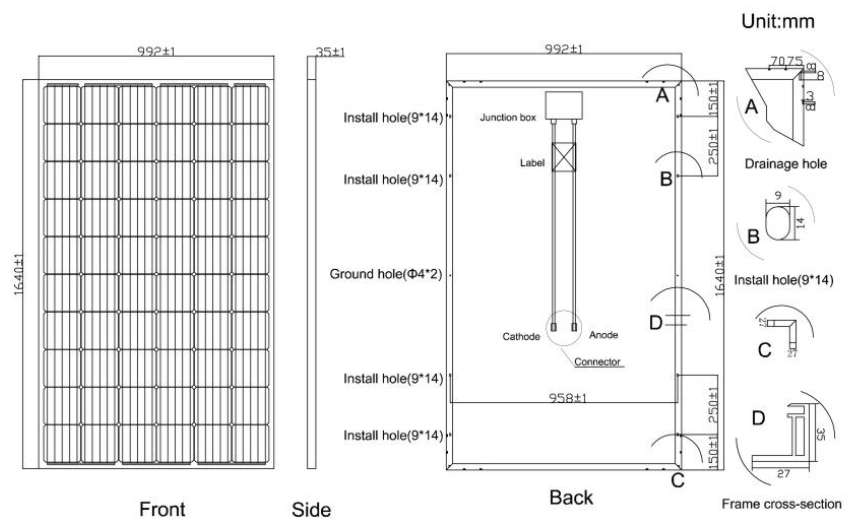 60w off grid solar panel kits supplier for household-13