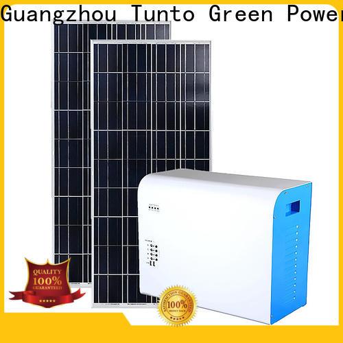 Tunto off grid solar panel kits customized for street
