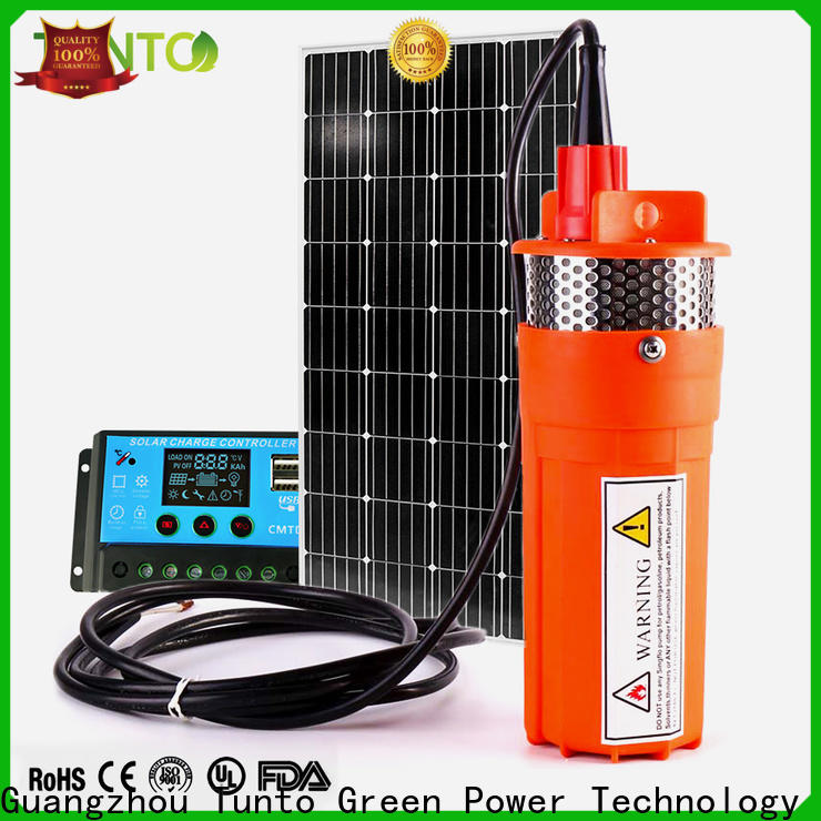 Tunto dc solar powered pump from China for garden