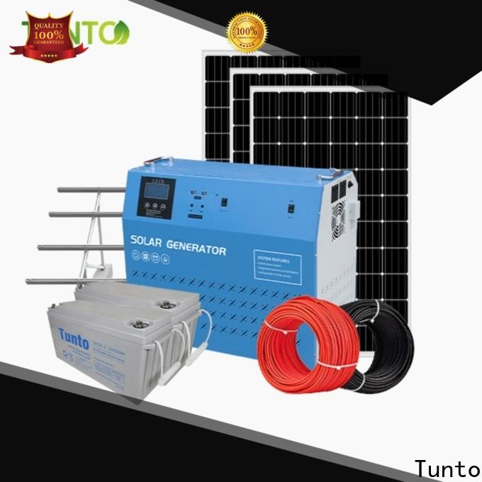 Tunto 6000w off grid solar panel kits from China for plaza