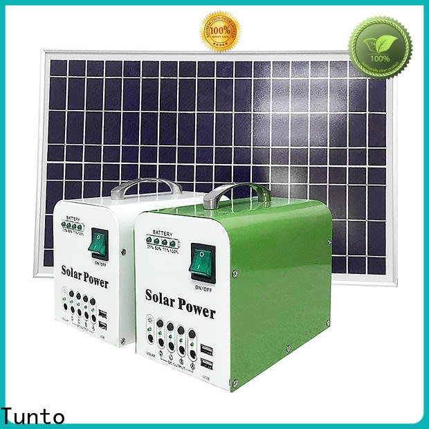 Tunto hot selling portable solar charging system customized for charging