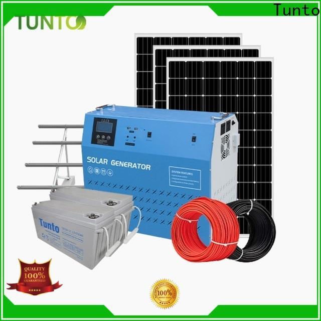 Tunto off grid solar panel kits manufacturer for street