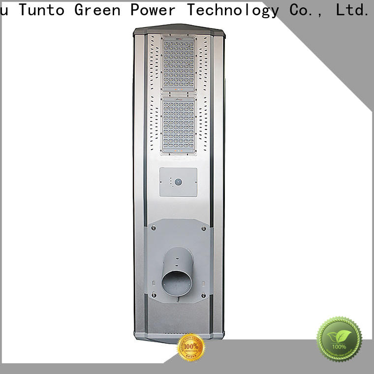 Tunto solar parking lot lights supplier for plaza