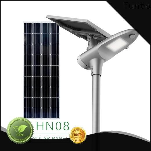 Tunto cool solar powered led street lights supplier for outdoor
