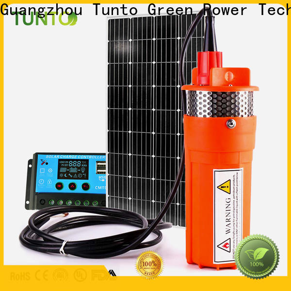 Tunto durable solar powered water pump manufacturer for irrigation