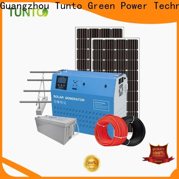 Tunto off grid solar power systems manufacturer for plaza