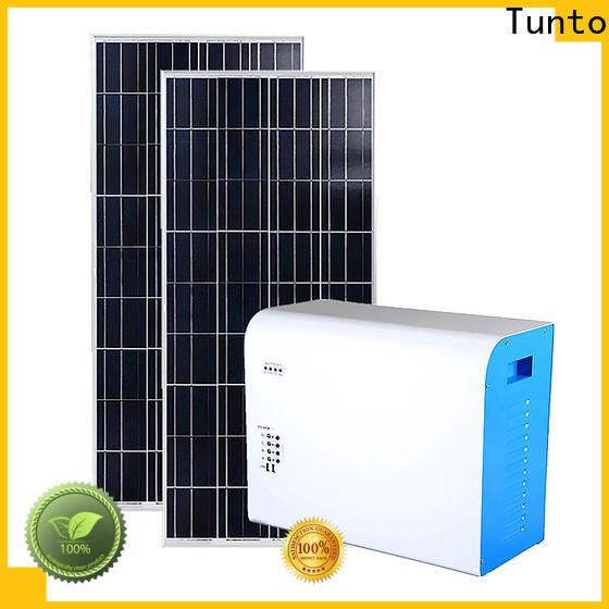 Tunto durable portable solar charging system manufacturer for camping