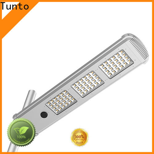 Tunto 50w solar street light manufacturer supplier for parking lot