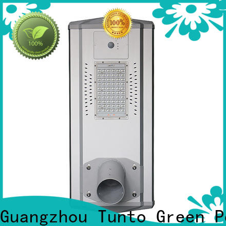 Tunto 50w best solar powered outdoor lights factory price for parking lot