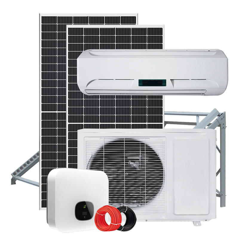 solar air conditioner with 5KW solar power system on-grid type